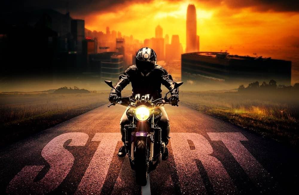 Lancement d'une moto électrique